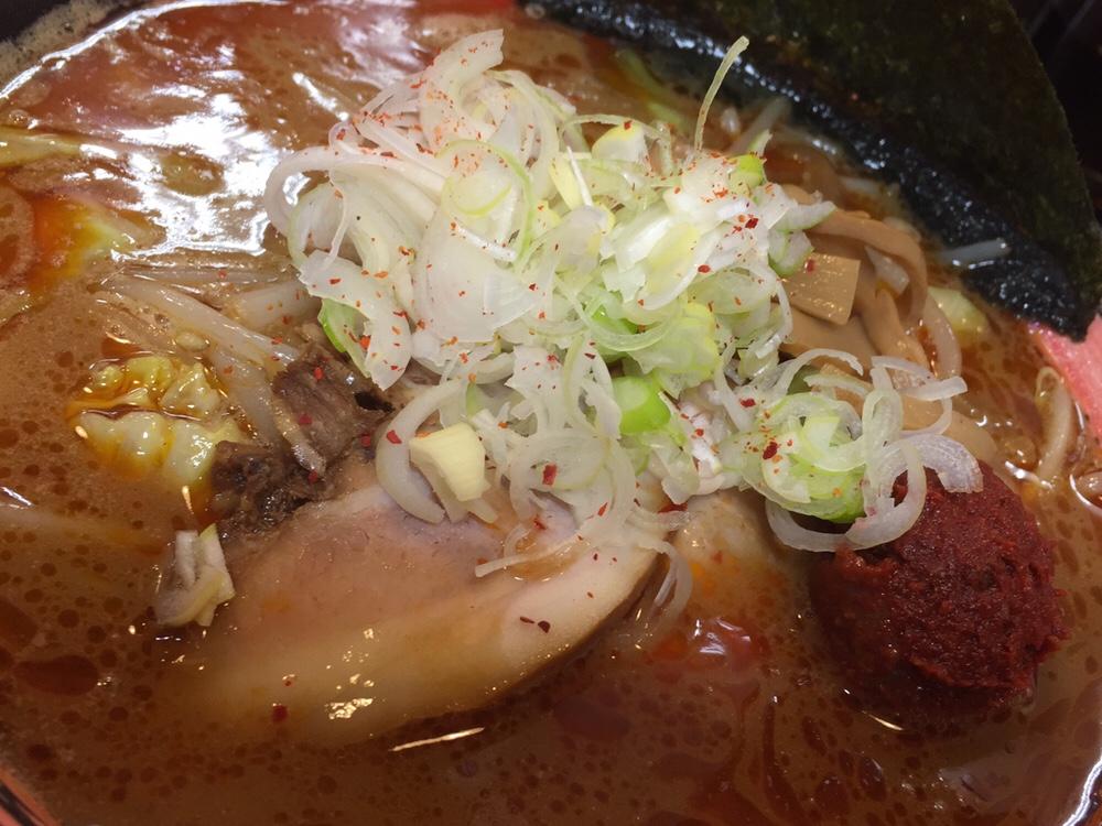 拉麺しな竹 みそラーメン 辛口 味噌ラーメン 具