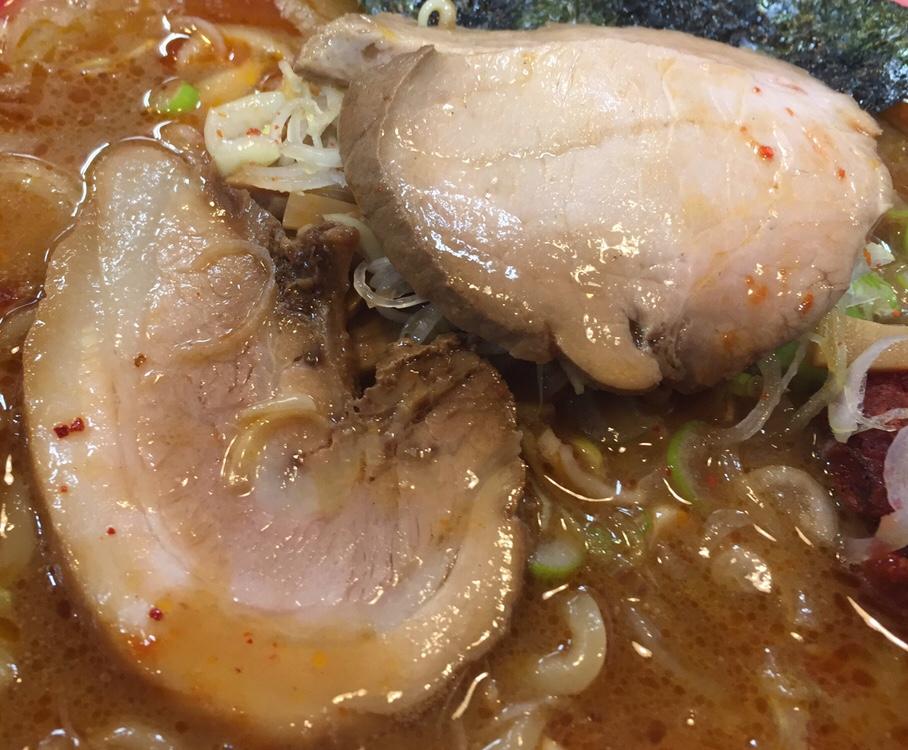 拉麺しな竹 みそラーメン 辛口 味噌ラーメン チャーシュー