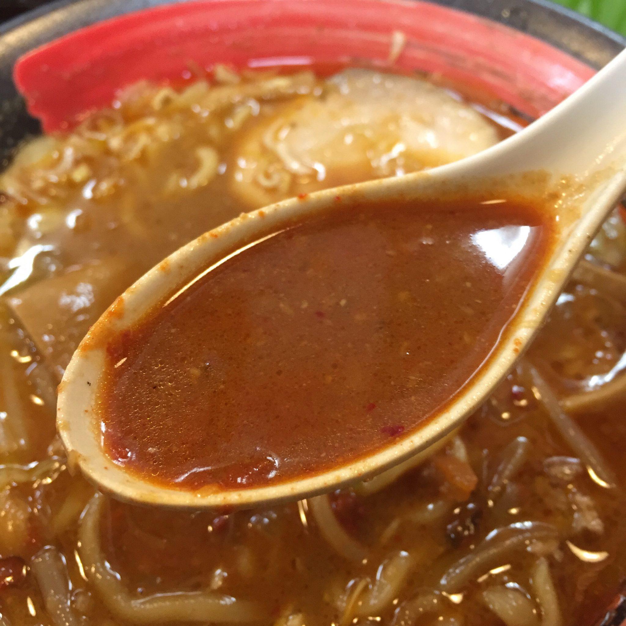 拉麺しな竹 みそラーメン 辛口 味噌ラーメン スープ