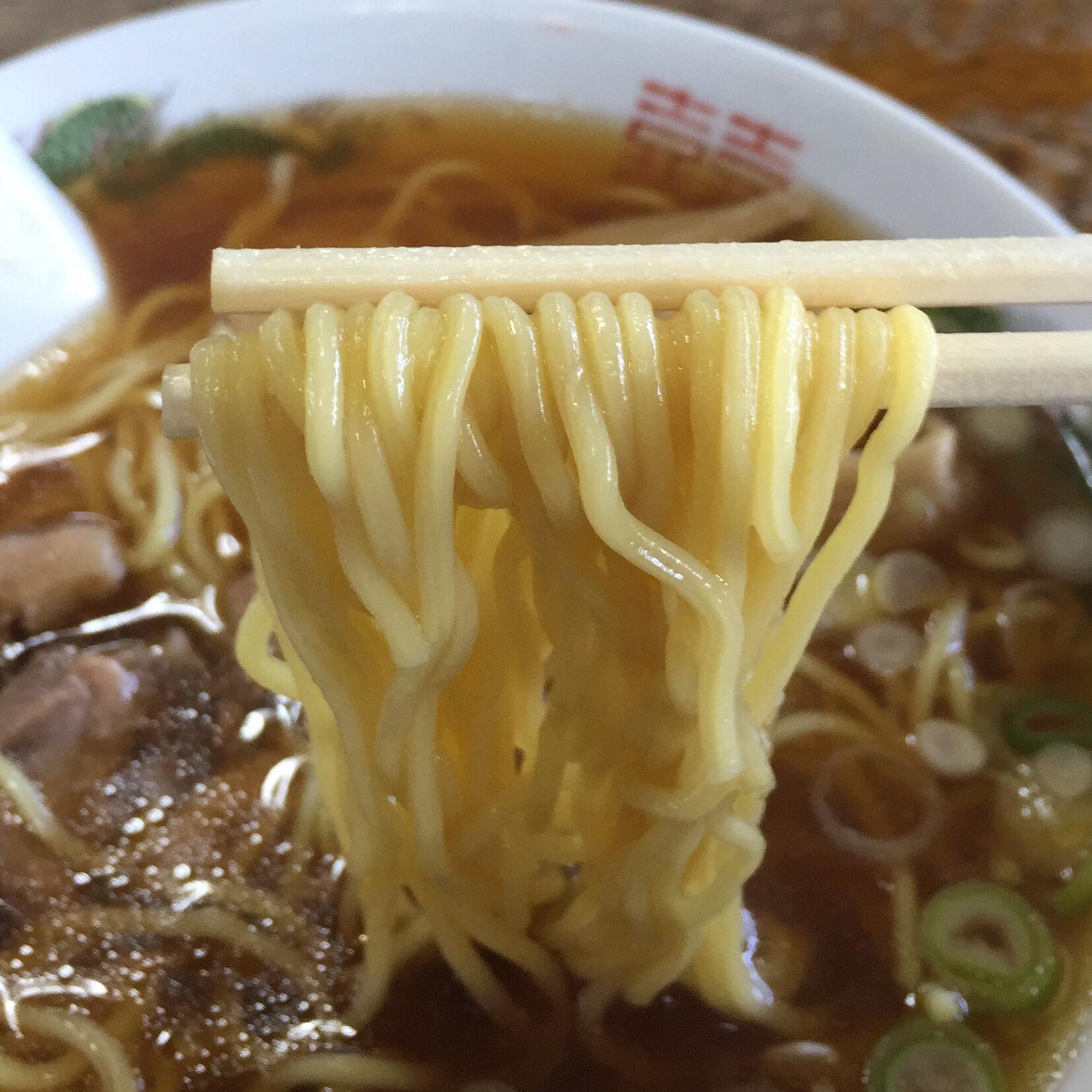 清吉そばや 岩渕支店 中華そば 麺