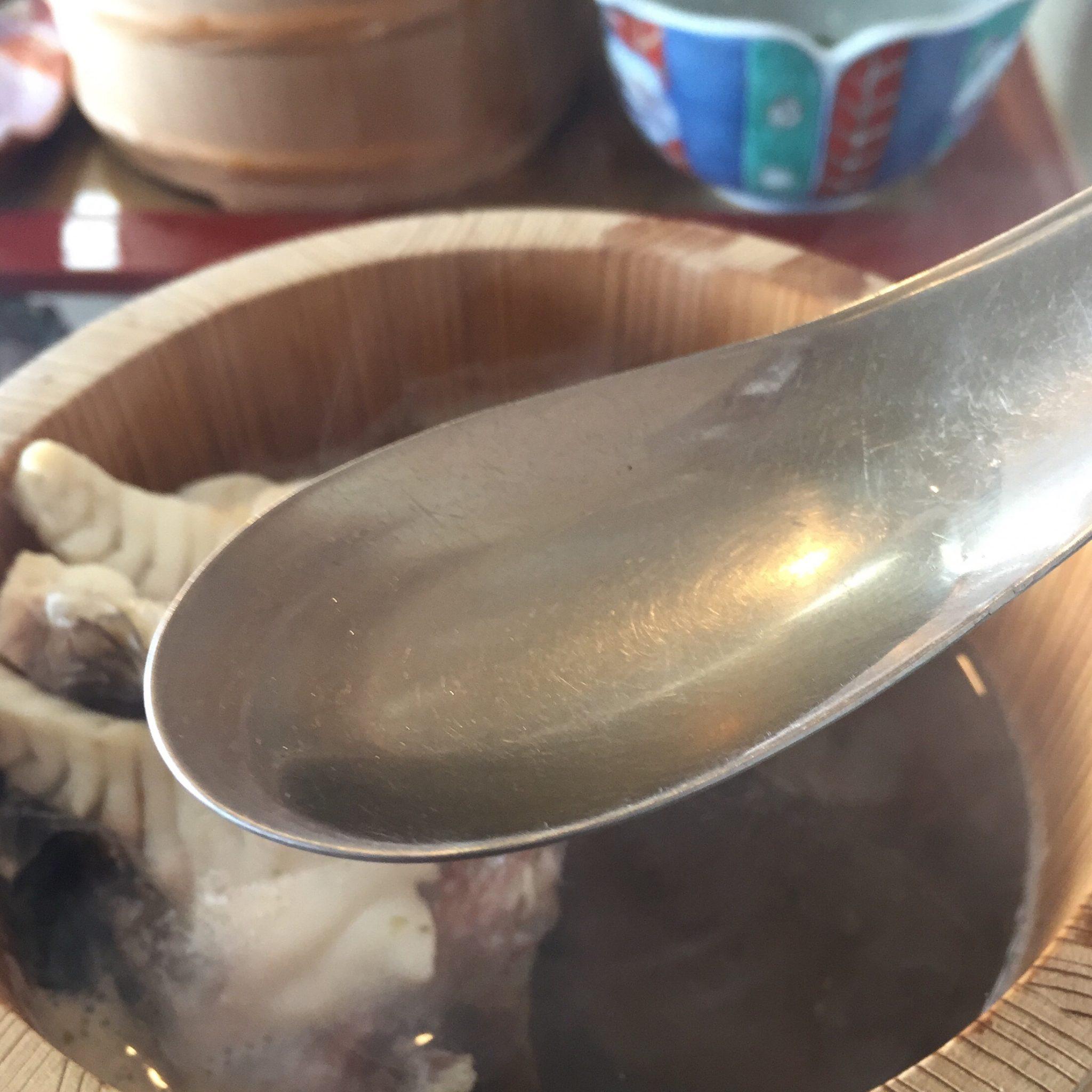 元祖石焼き 美野幸(みのこう) 天然真鯛の石焼 スープ