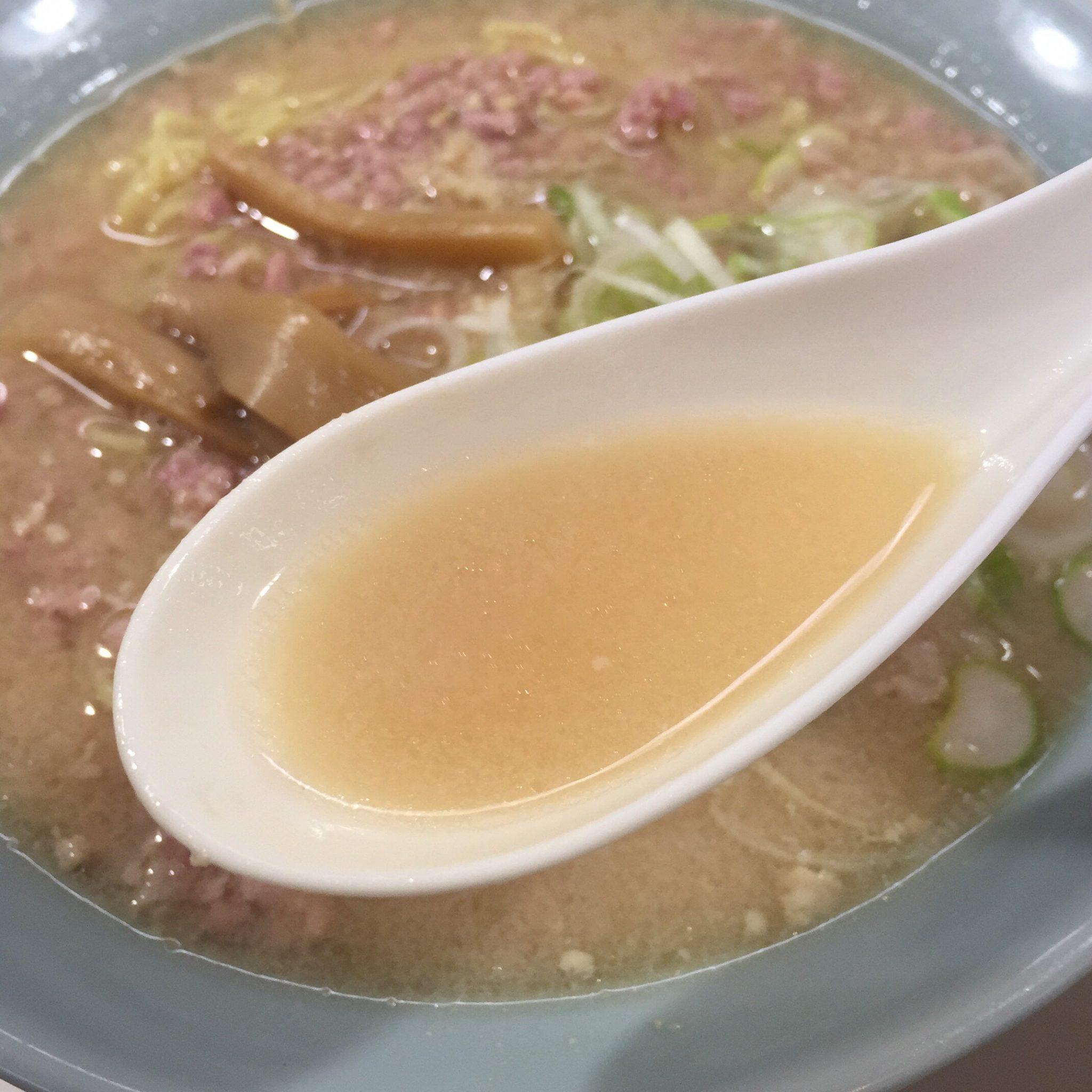味の食道楽 ザザーメン スープ