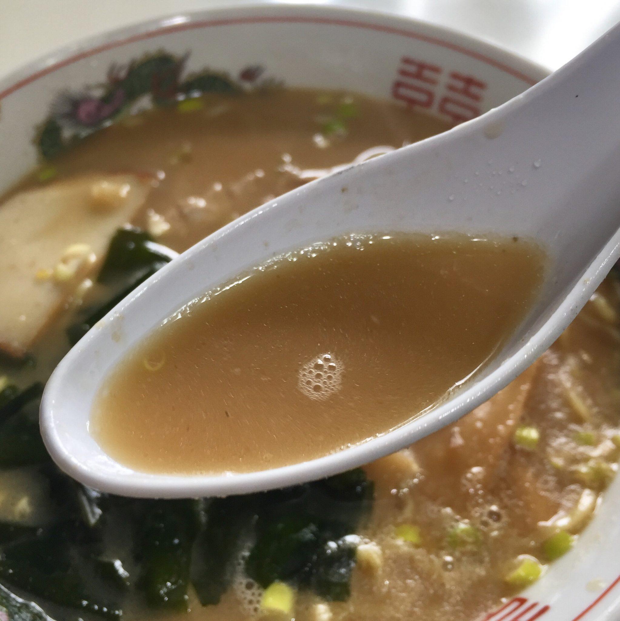 清山食堂 1/2カレーとラーメンセット スープ