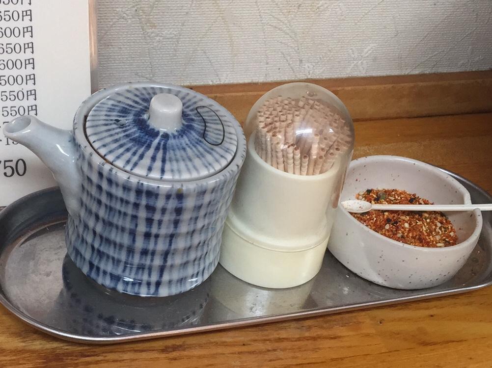 麺ならおまかせ 福龍 マーボラーメン 味変 調味料