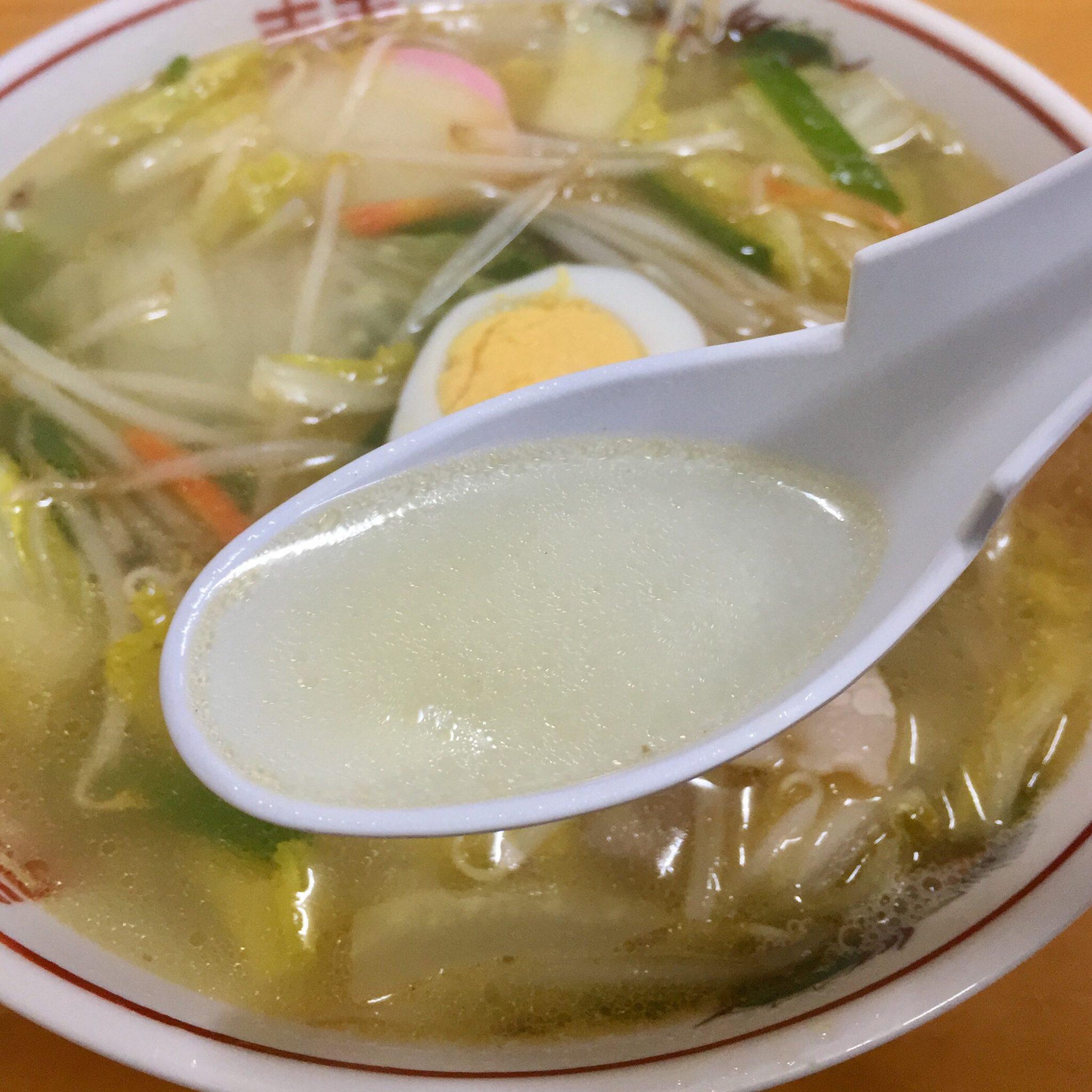 将軍野会館 タンメン スープ