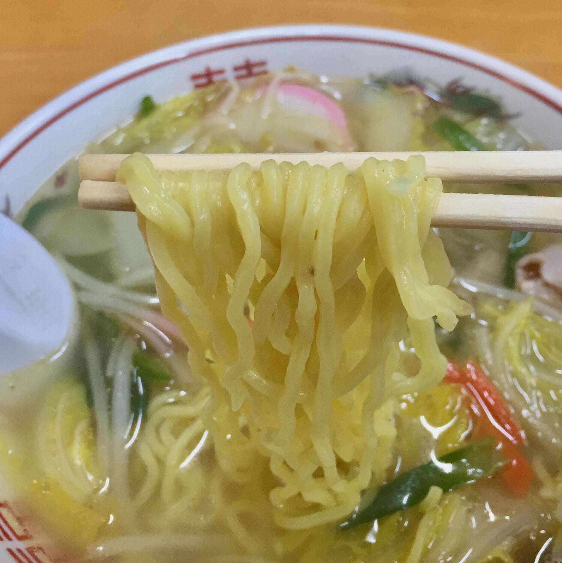 将軍野会館 タンメン 麺