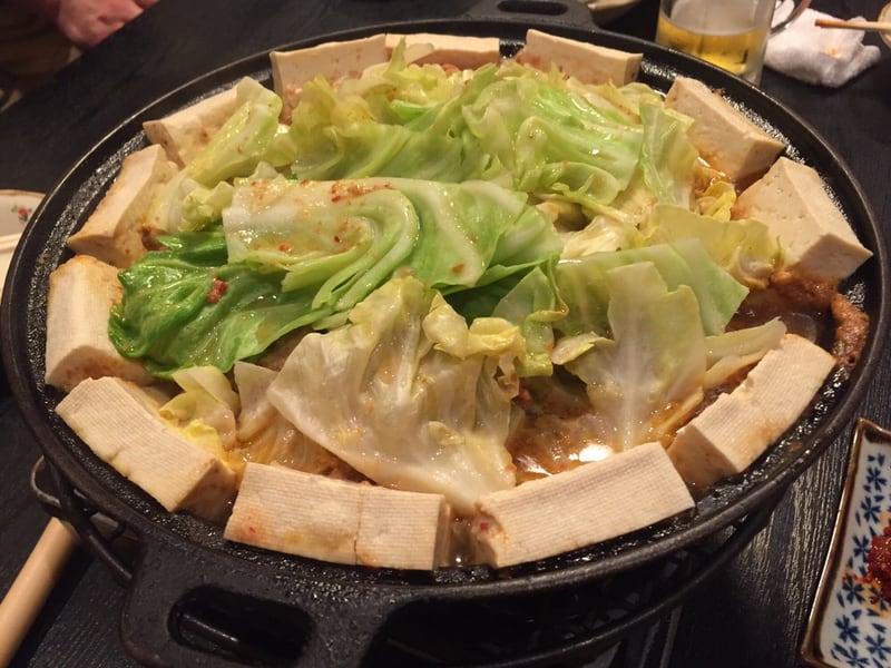 ホルモン伸栄 山王店 ホルモン 豚ハラミ 牛バラ キャベツ 豆腐