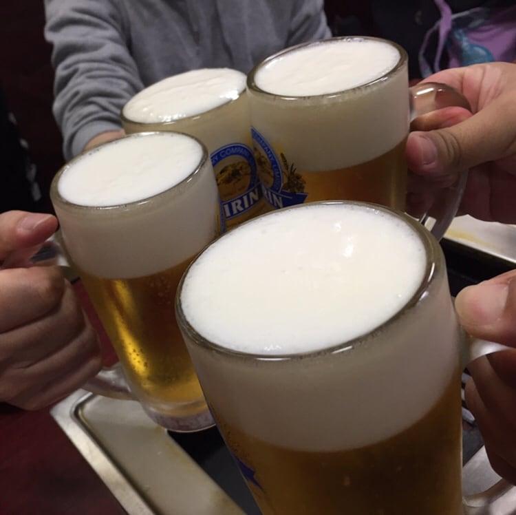 焼肉まいど 秋田市大町 乾杯