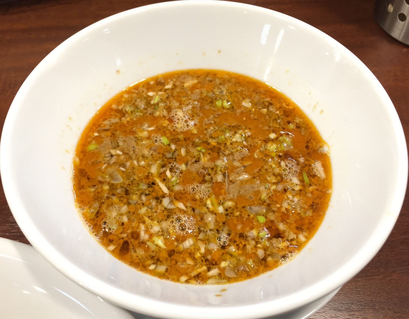 柳麺 多むら 外旭川店 担担つけ麺 つけ汁 スープ