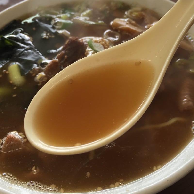 中央食堂 秋田県由利本荘市東由利 モツラーメン 正油 スープ