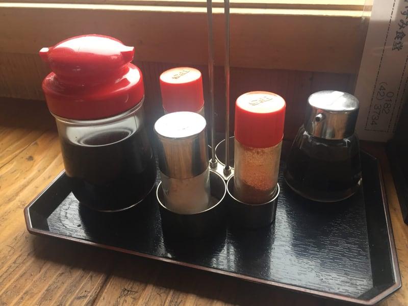 いずみ食堂 秋田県横手市十文字町 比内地鶏しょうゆラーメン 醤油ラーメン 味変 調味料