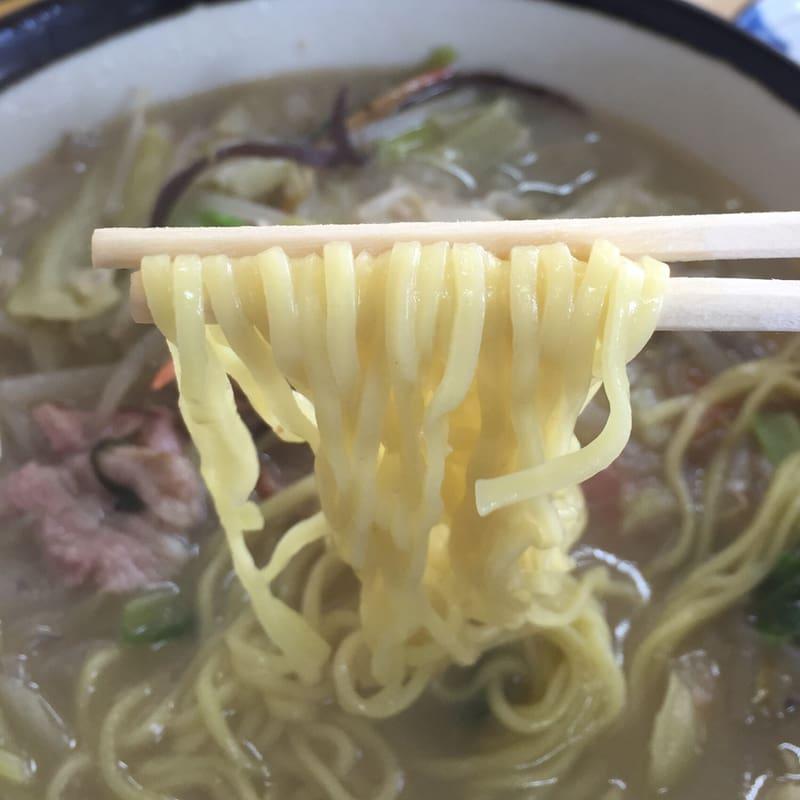 お食事処 えのき 秋田市寺内 タンメン 麺