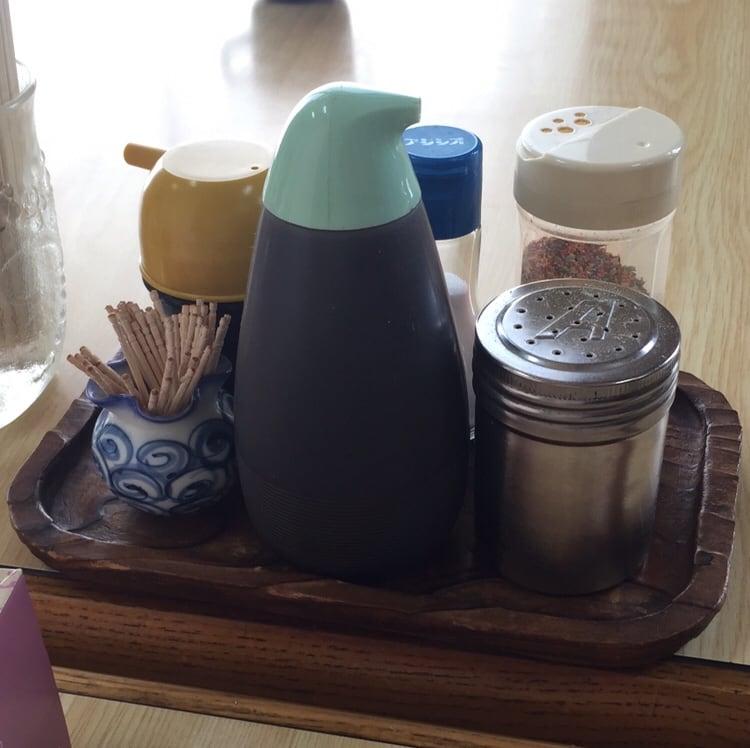 お食事処 えのき 秋田市寺内 タンメン 味変 調味料