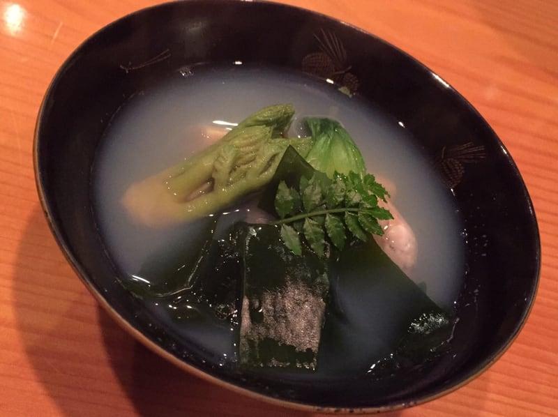 日本料理たかむら 秋田市大町 ハマグリとワカメのお吸い物