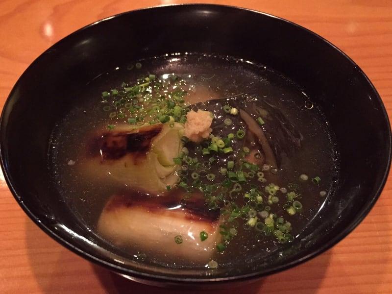 日本料理たかむら 秋田市大町 スッポンと焼きネギのお椀