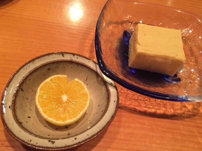 日本料理たかむら 秋田市大町 マンゴープリン オレンジ添え