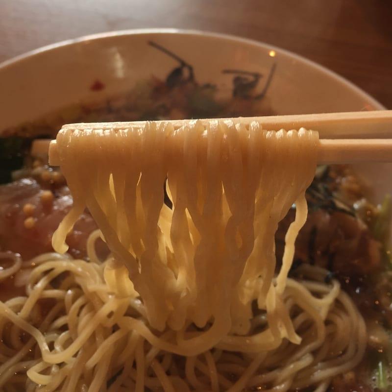 津軽煮干中華蕎麦 サムライブギー 岩手県久慈市 鰹中華 カツオ 麺