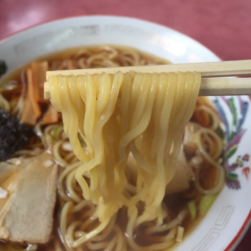 桜美食堂 秋田県仙北市角館町 中華そば 麺