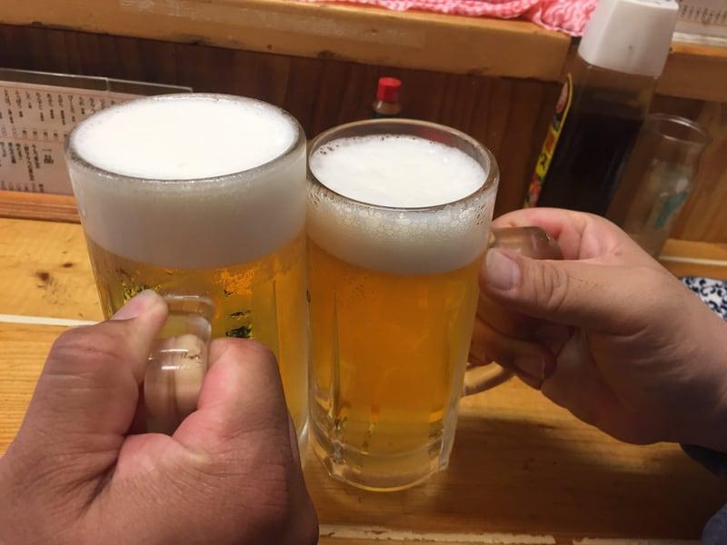 もつ焼き でん 水道橋店 乾杯 生ビール