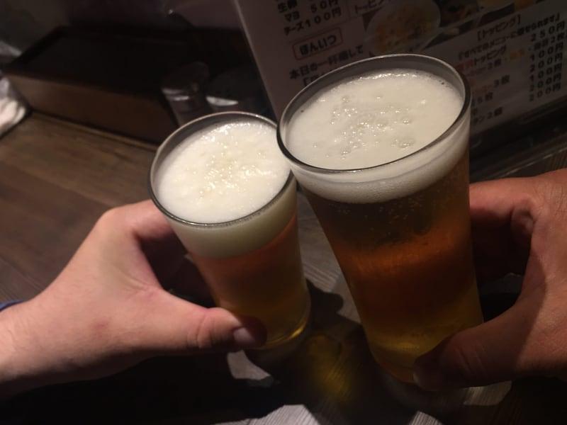 拉麺5510 大島 ビール 乾杯