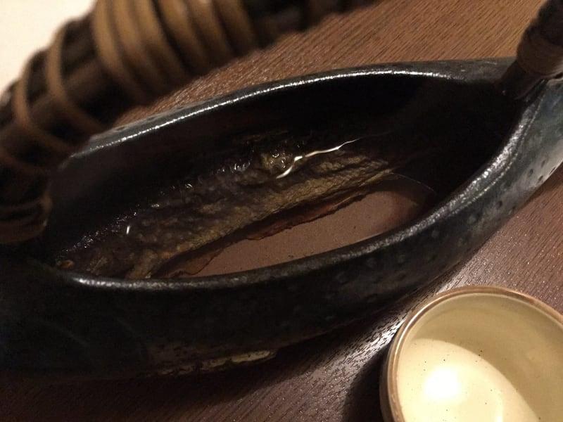 骨酒と地酒 酒讃家 秋田市山王 岩魚 骨酒