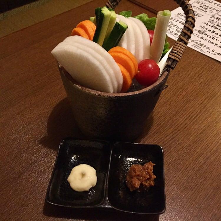 骨酒と地酒 酒讃家 秋田市山王 野菜スティック