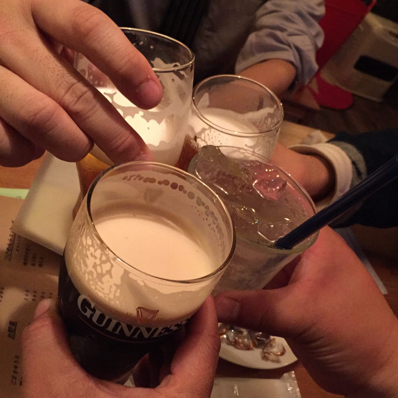 BAR JAH 秋田市大町 ギネス 乾杯