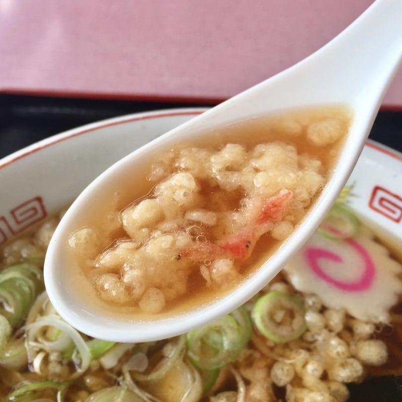 うえの食堂 秋田県仙北市角館町 天ぷら中華 スープ