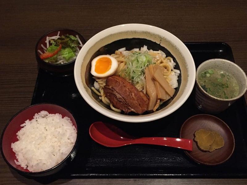 麺酒菜 おり座 秋田県大仙市 比内地鶏油そば まぜそばセット