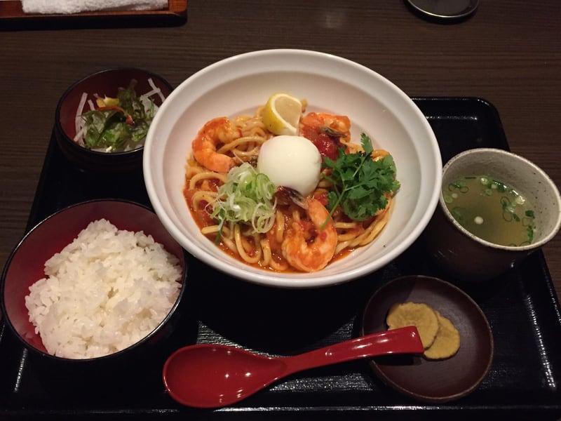 麺酒菜 おり座 秋田県大仙市 トムヤムクンのトマトまぜそば まぜそばセット