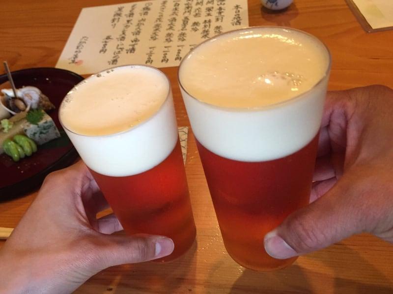 日本料理たかむら 秋田市大町 ガージェリーエステラ ビール 乾杯