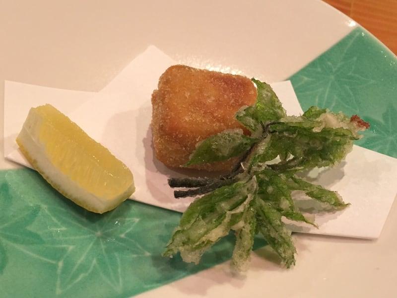 日本料理たかむら 秋田市大町 揚げ物はウニのクリームコロッケ