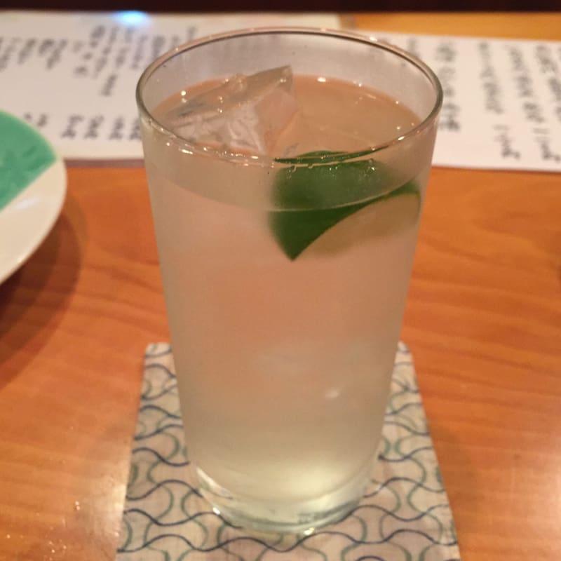 日本料理たかむら 秋田市大町 日本酒 すだち割り