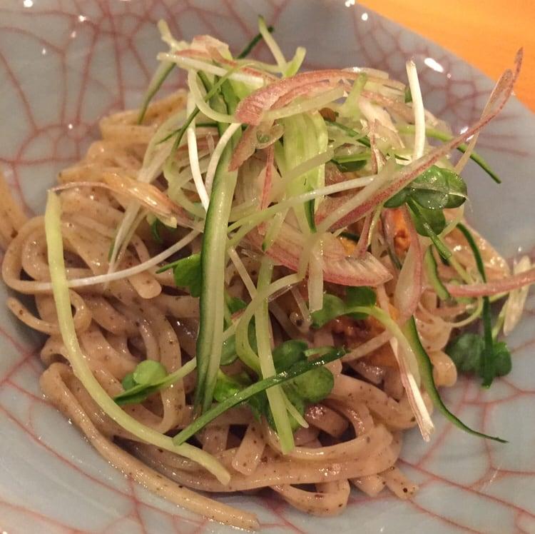 日本料理たかむら 秋田市大町 たかむら麺 雲丹 ウニ 具