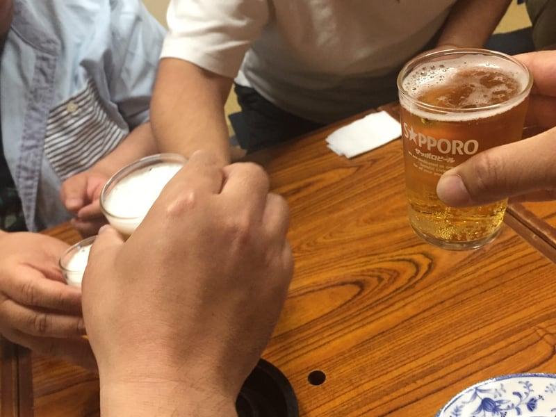 久村の酒場 山形県酒田市 乾杯 ビール