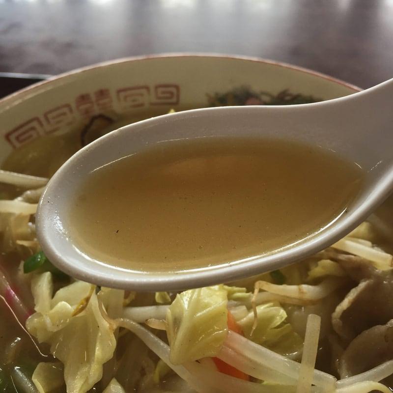 雲沢観光ドライブイン 秋田県仙北市角館町 タンメン スープ