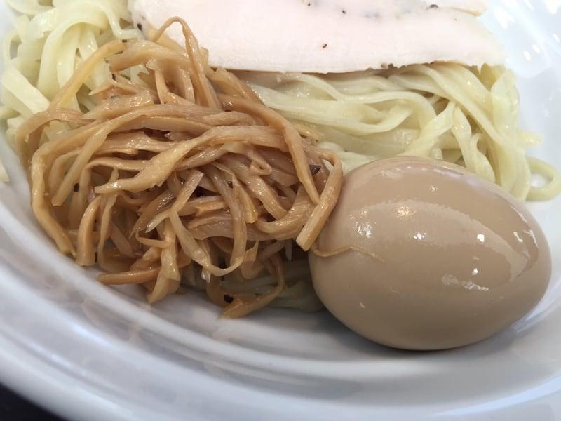 麺屋 満開 秋田市広面 味玉のせ つけそば つけ麺 具