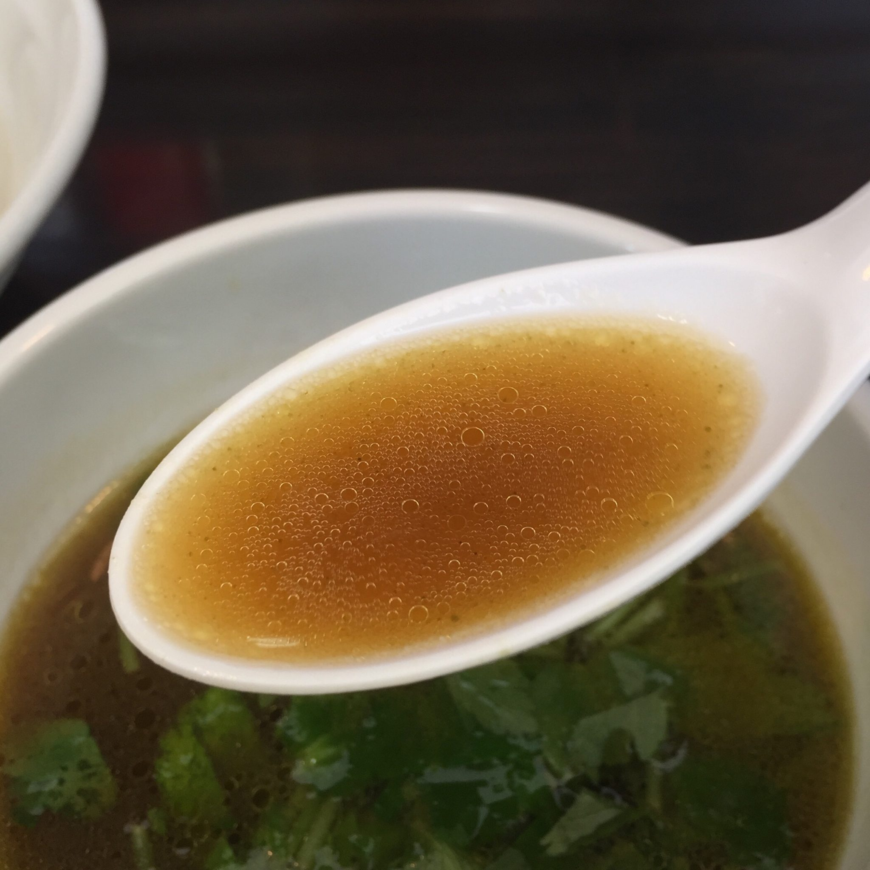 麺屋 満開 秋田市広面 味玉のせ つけそば つけ麺 つけ汁 スープ