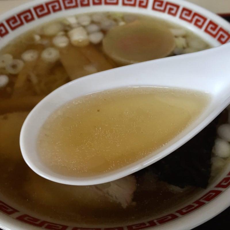 定食たかはし 秋田県横手市十文字町 中華そば スープ
