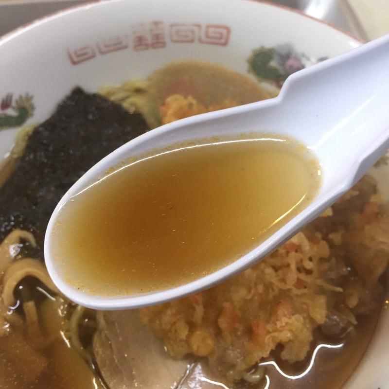 一源食堂 秋田県大仙市大曲 天ぷら中華 スープ