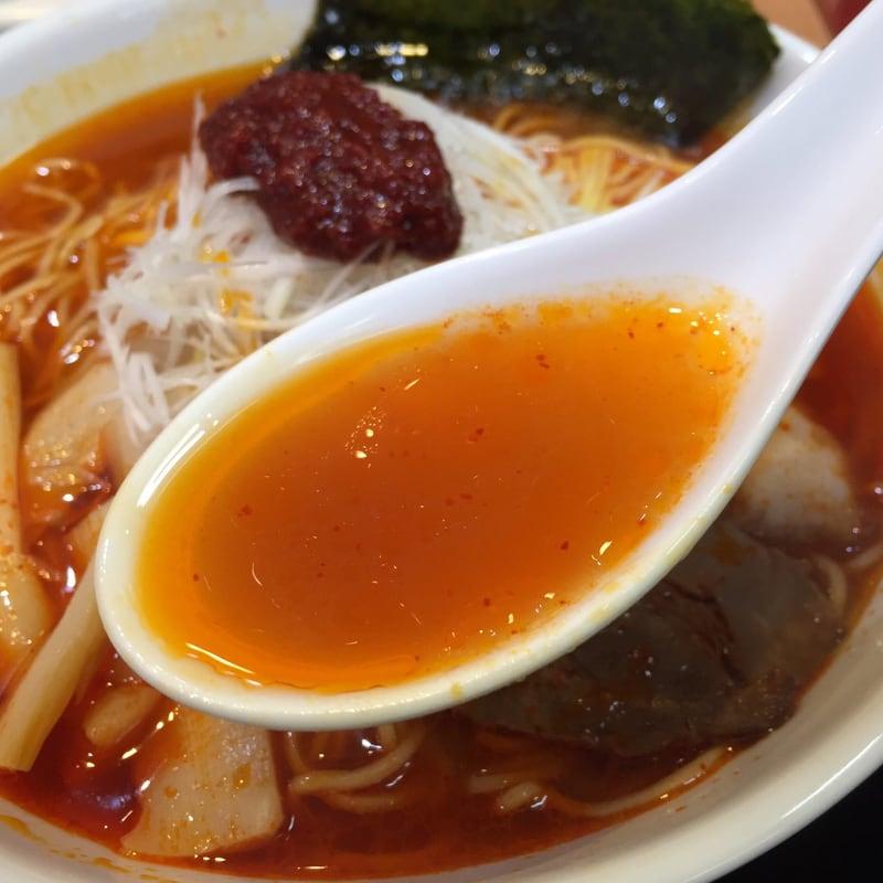 茨島厨房 ぱっぷや 秋田市茨島 リボン茨島店 らーめんセット 旨辛らーめん スープ