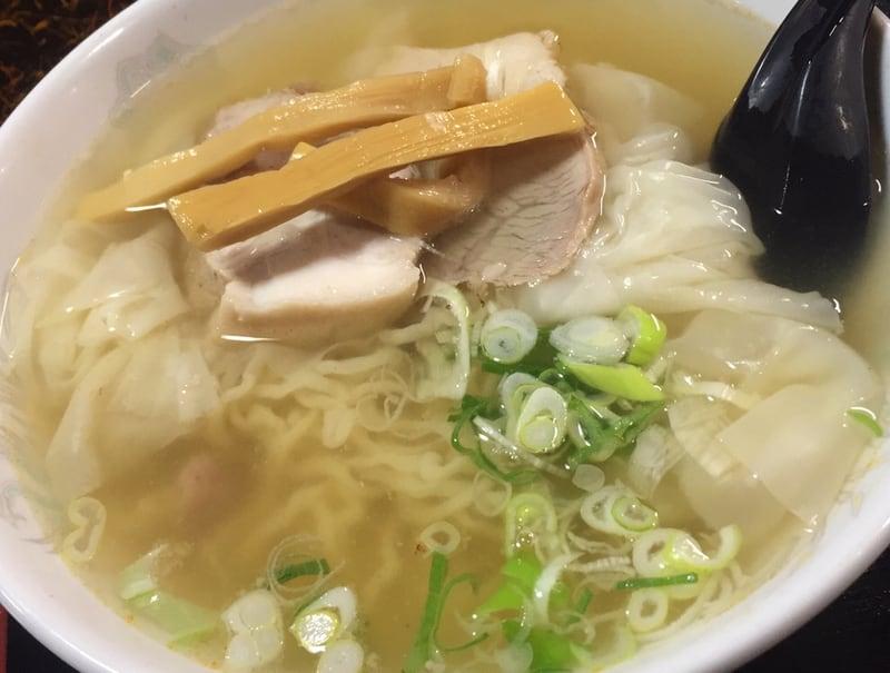 中華そば 華月 秋田県にかほ市金浦 塩ワンタン麺 塩ラーメン 具