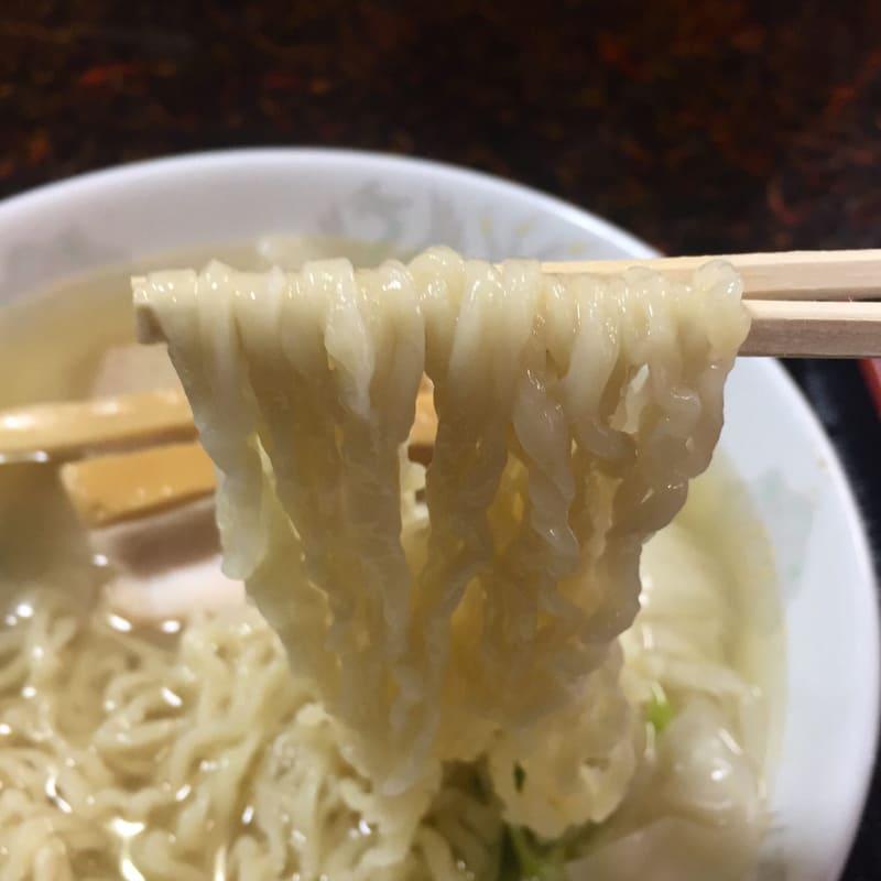 中華そば 華月 秋田県にかほ市金浦 塩ワンタン麺 塩ラーメン 麺