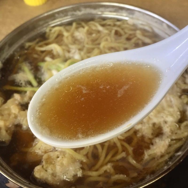 お食事 かあちゃん 秋田県能代市二ツ井町 ラーメン鍋焼定食 スープ