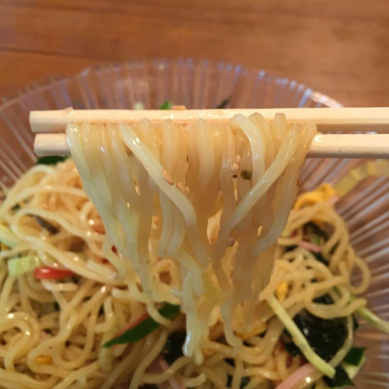 中華料理 張(まさる) 秋田市御野場 冷やし中華そば 麺