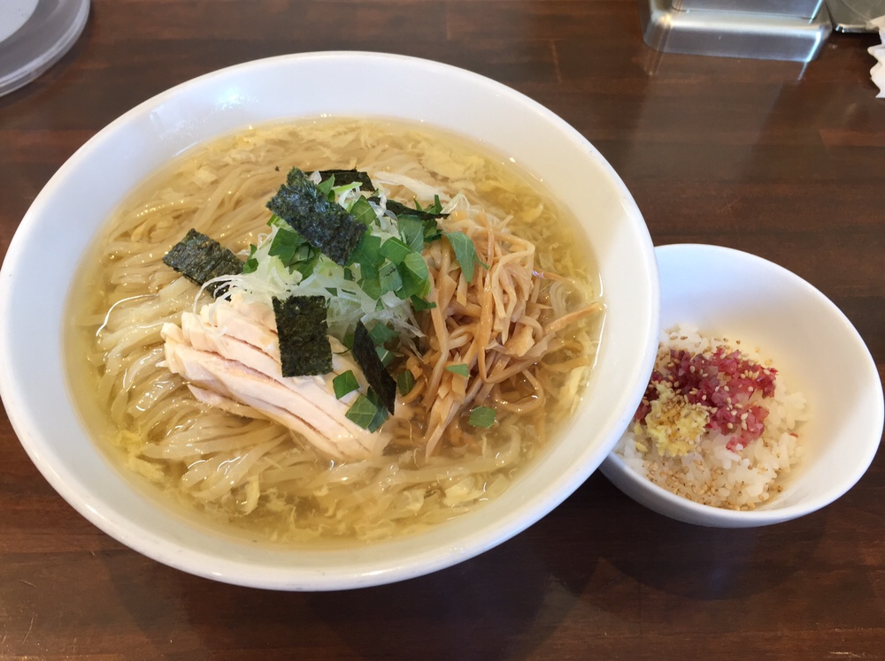 NOODLE SHOP KOUMITEI(香味亭) 秋田県横手市 鶏と鰹香る冷やしぶっかけラーメン 冷やし茶漬け付き