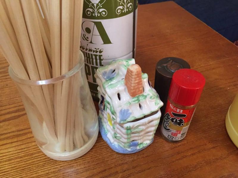 田沢の水茶屋 ごすけ 農家そば屋 山形県酒田市 豚白モツラーメン 味変 調味料