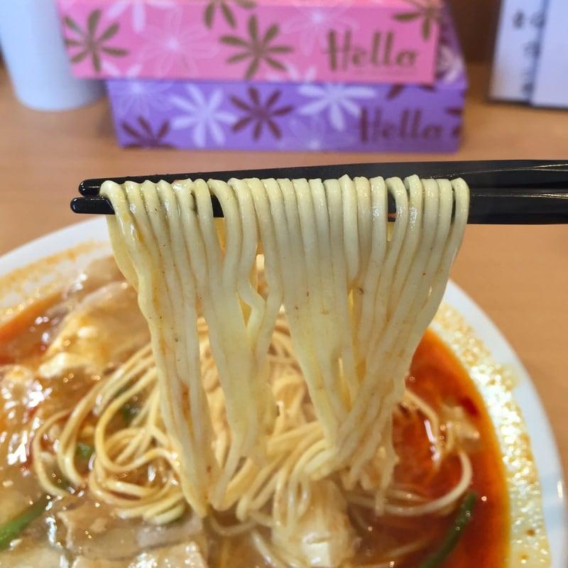 自家製麺 麺や二代目 夜来香 秋田市飯島 辛痺味噌スーラータンメン 麺
