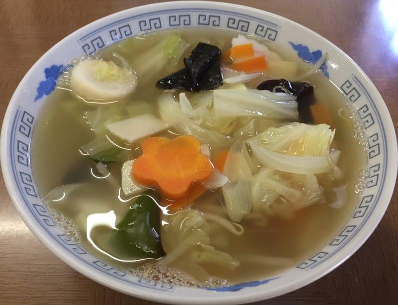 天勝軒 秋田県横手市十文字町 湯麺 タンメン