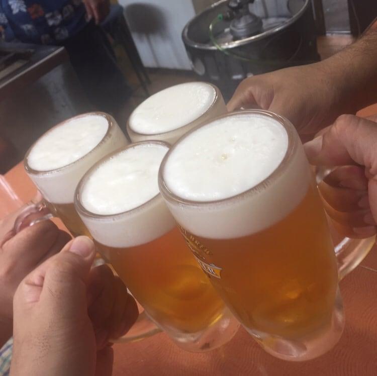 やきとり こうやんち 埼玉県東松山市 生ビール 乾杯